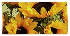 Jar Of Sunflowers Bath Towel