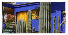Bath Towel featuring the photograph Jardin Majorelle 5 by Andrew Fare