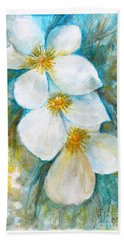 Bath Towel featuring the painting Jasmine by Jasna Dragun
