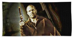 Jason Statham - Actor Painting Bath Towel