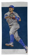Javier Baez Chicago Cubs Art Hand Towel by Joe Hamilton