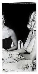 Jayne Mansfield Hollywood  Actress Sophia Loren 1957 Bath Towel