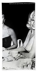 Jayne Mansfield Hollywood  Actress Sophia Loren 1957 Hand Towel
