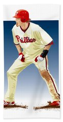 Jayson Werth Hand Towel by Scott Weigner