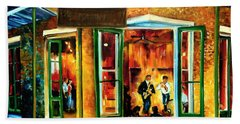 Jazz At The Maison Bourbon Hand Towel by Diane Millsap