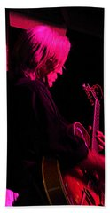 Hand Towel featuring the photograph Jazz Guitarist by Lori Seaman