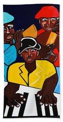 Jazz Sunshine Band Hand Towel by Nora Shepley