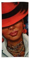 Hand Towel featuring the painting Jazzy by Alga Washington
