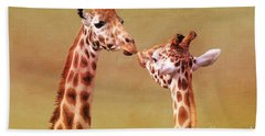 Je T'aime Giraffes Hand Towel by Terri Waters
