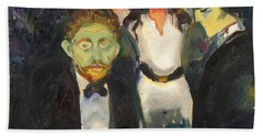 Jealousy By Edvard Munch Bath Towel