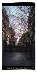 Jean Beauvais Paris Evening Light Hand Towel by Felipe Adan Lerma