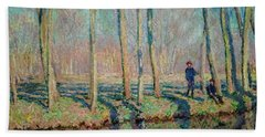 Jean Pierre Hoschede And Michel Monet On The Bank Of The Epte Hand Towel