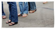 Jeans And Sandals- Photography By Linda Woods Bath Towel