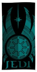 Jedi Symbol - Star Wars Art, Blue Hand Towel