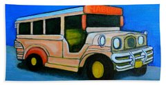 Jeepney Hand Towel by Cyril Maza