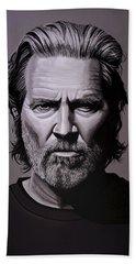 Jeff Bridges Painting Hand Towel