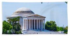 Jefferson Memorial Bath Towel by Anthony Baatz