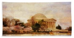 Jefferson Memorial Just Past Dawn Hand Towel