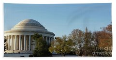 Jefferson Memorial Bath Towel by Megan Cohen