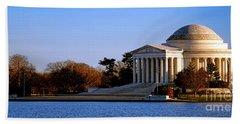 Jefferson Memorial Sunset Bath Towel