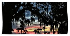 Jekyll Island Georgia Sunset Bath Towel