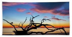Jekyll Island Sunrise On Driftwood Beach Bath Towel