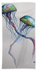Jellyfish Hand Towel by Edwin Alverio