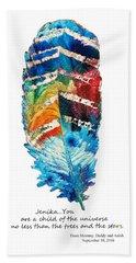 Custom Art - Jenika Child Of The Universe Hand Towel