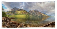 Hand Towel featuring the photograph Jenny Lake Panorama View by James BO Insogna
