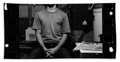 Self Portrait, In Darkroom, 1972 Bath Towel
