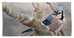 Cold Winter's Jay Hand Towel