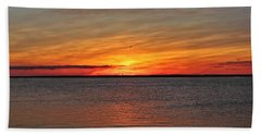 Jersey Shore Sunset Hdr Bath Towel