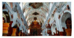 Jesuit Church Of Lucerne Hand Towel