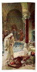 Jesus Cures A Sick Man Hand Towel