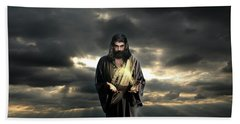 Jesus In The Clouds Hand Towel