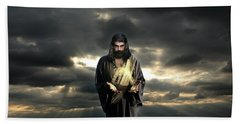 Jesus In The Clouds Bath Towel