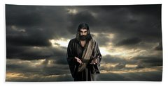 Jesus In The Clouds With Glory Hand Towel