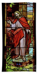 Bath Towel featuring the photograph Jesus Knocking by Debby Pueschel