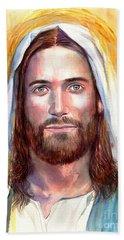 Jesus Of Nazareth Painting Bath Towel