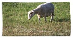 Jesus The Good Shepherd Hand Towel by Ella Kaye Dickey