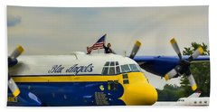 Jet Assisted C-130 Hand Towel by Pat Cook