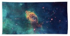 Bath Towel featuring the photograph Jet In Carina by Marco Oliveira