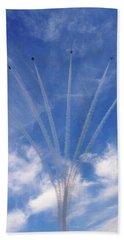 Jet Planes Formation In Sky Hand Towel