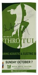 Jethro Tull Signed Poster Hand Towel