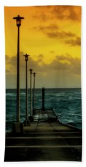 Jetty At Sunrise Hand Towel