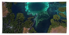 Hand Towel featuring the photograph Jetty In Sea, Flores by Pradeep Raja PRINTS