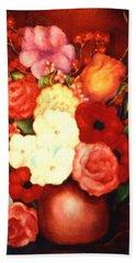 Jewel Flowers Hand Towel