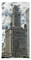 Jewelers Building Chicago Bath Towel by Alan Toepfer