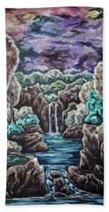 Hand Towel featuring the painting Jewels Of The Valley by Cheryl Pettigrew