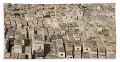 Jewish Cemetery On Mount Of Olives Hand Towel